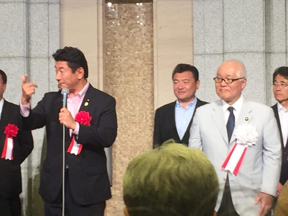 武見敬三参議院議員の東京23区総決起大会において「勝つぞコール」三唱を申し上げました
